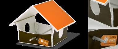 Vogelhaus als Werbemittel